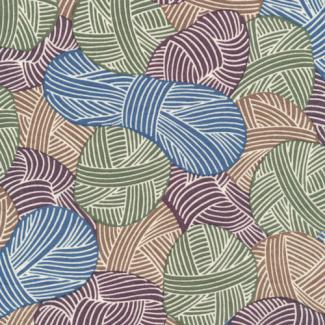 Coton Bio Popeline Wound Up Yarnies Khaki Cloud9 (par 10cm)