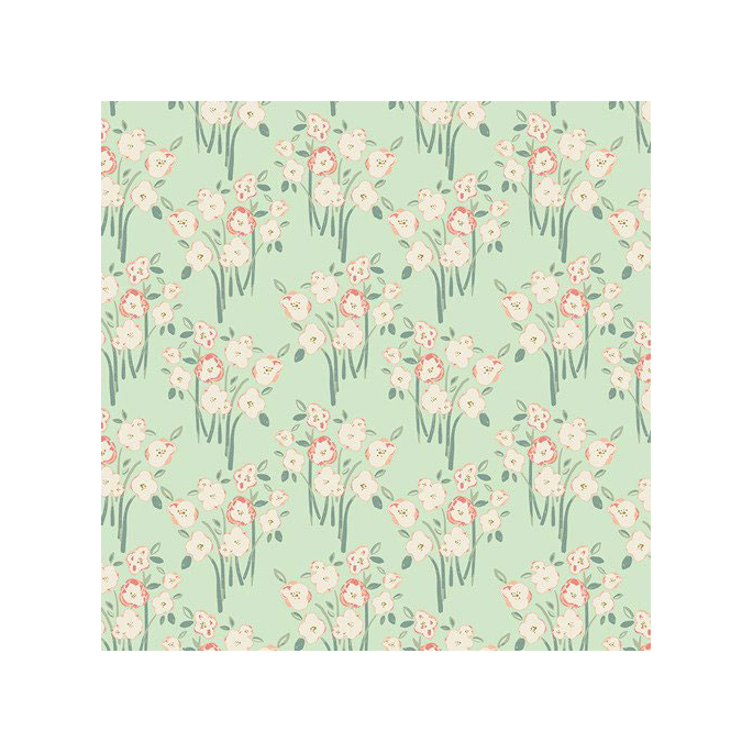 Organic cotton print Hello Ollie Garden Grounds Budding (per 10c