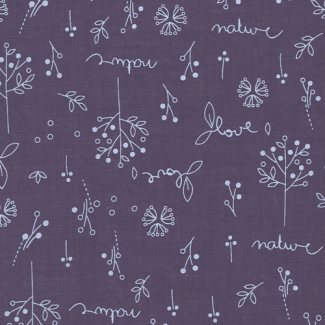 Light Cotton Odonata Violet Sage 304 by Frou-frou (per 10cm)