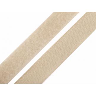 Scratch 3.0cm BOUCLE et CROCHET Beige (au mètre)