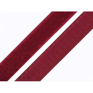 Scratch 3.0cm HOOK & LOOP Burgundy (per meter)