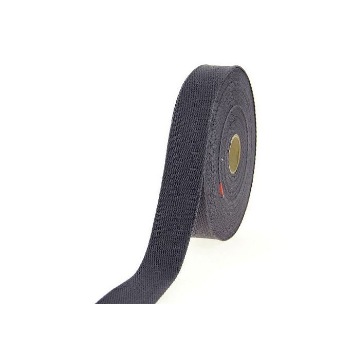 Sangle coton 30mm Gris Foncé (au mètre)
