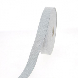 Cotton Webbing 30mm Light Grey (15m roll)