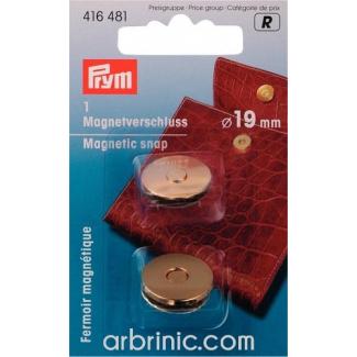Fermoir magnétique 19mm Doré