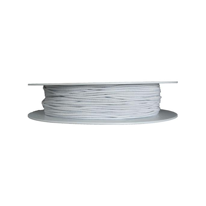 Round Cord Elastic White (10m roll)