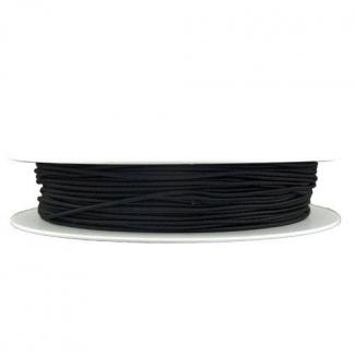 Elastique rond à chapeau Noir (au mètre)