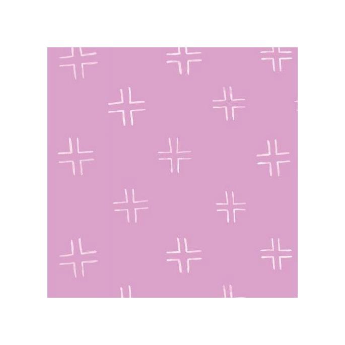 Coton Bio imprimé Brush Strokes Treillis Pink Cloud9
