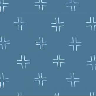 Organic cotton print Brush Strokes Treillis Navy Cloud9