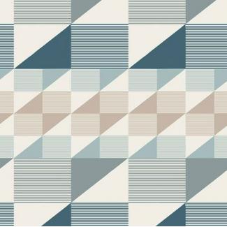 Coton imprimé Trekant Rows Breeze Art Gallery (par 10cm)