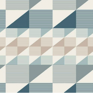 Cotton print Heartland Trekant Rows Breeze Art Gallery (per 10cm