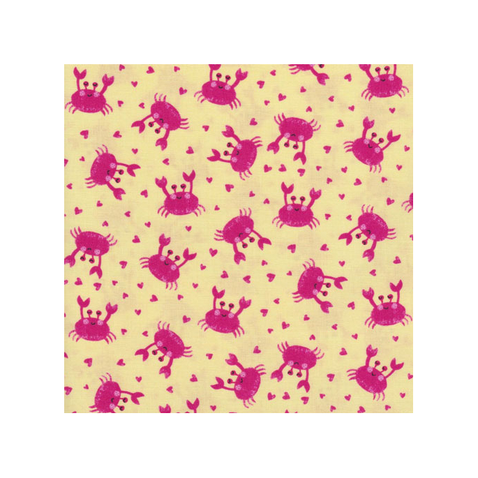 Cotton print Fun Crabs Timeless Treasures (per 10cm)