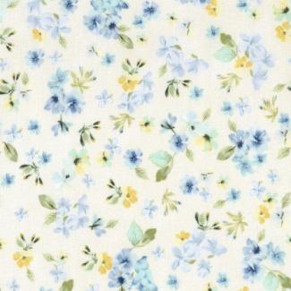 Coton imprimé Fleur Cream Timeless Treasures (par 10cm)