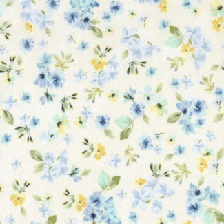 Cotton print Fleur Cream Timeless Treasures (per 10cm)