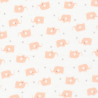 Organic cotton Interlock Tout Petit Elephants Cloud9 (per 10cm)
