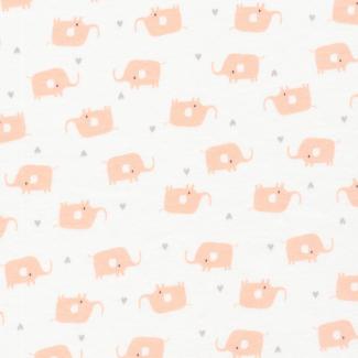 Coton Bio Interlock Tout Petit Elephants Cloud9 (par 10cm)