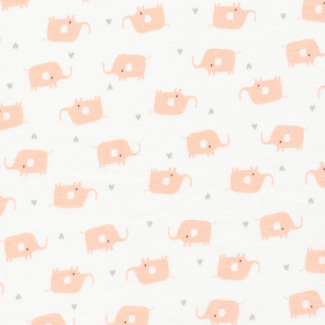 Coton Bio Interlock Tout Petit Elephants Cloud9