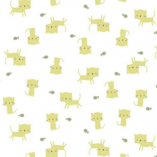 Organic cotton Interlock Tout Petit Kittens Cloud9