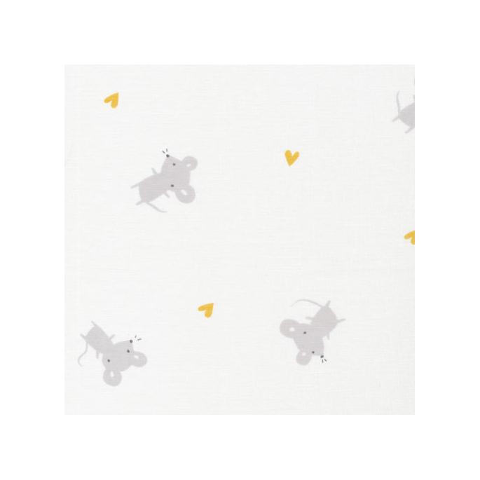 Organic cotton Swaddle Tout Petit Mice Cloud9 (per 10cm)