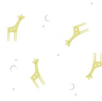 Organic cotton Swaddle Tout Petit Giraffes Cloud9 (per 10cm)