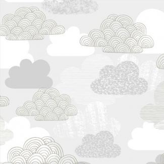 Laminated Organic Cotton Passing Clouds Cloud9(per 10cm)