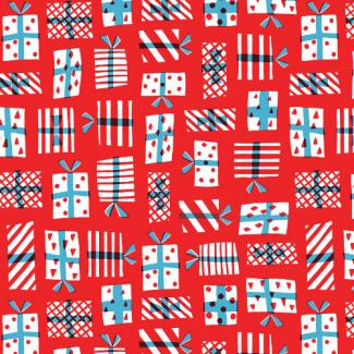 Coton Bio imprimé Noel Gift Geometry Cloud9