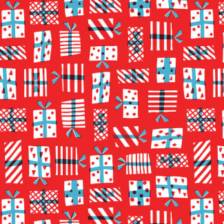 Organic cotton print Noel Gift Geometry Cloud9