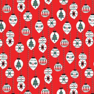 Coton Bio imprimé Noel Christmas Balls Cloud9