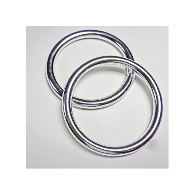 Sling Rings Shinny Silver Size L (1 pair)