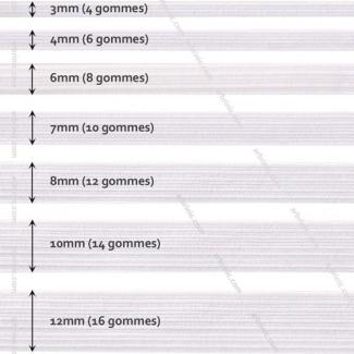 Elastique Tressé 4mm 6 gommes Blanc (bobine 50m)