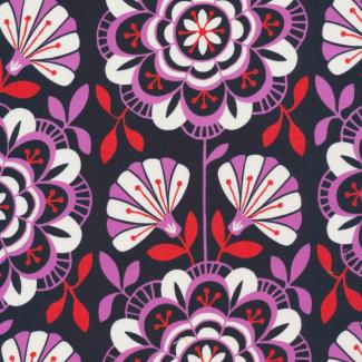 Coton Bio imprimé Bohemian Garden Dahlia Daydream Cloud9 (par 10
