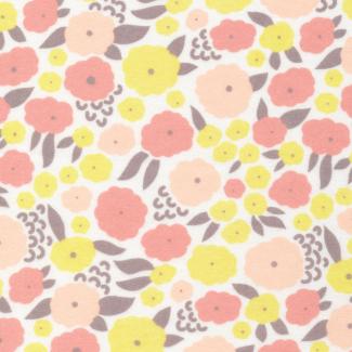 Coton Bio Flanelle Field Day pink/turquoise Cloud9 (par 10cm)