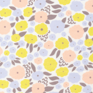 Organic cotton Flannel Field Day citron/blue Cloud9