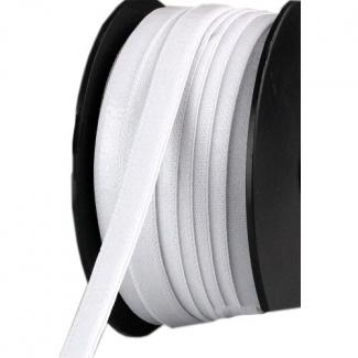 Elastique Anti glisse satiné 13mm Blanc (au mètre)