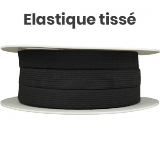 Woven Elastic Black 11mm (by meter)