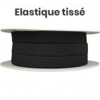 Elastique Tissé 11mm Noir (bobine 25m)