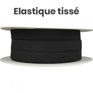 Elastique Tissé 15mm Noir (au mètre)