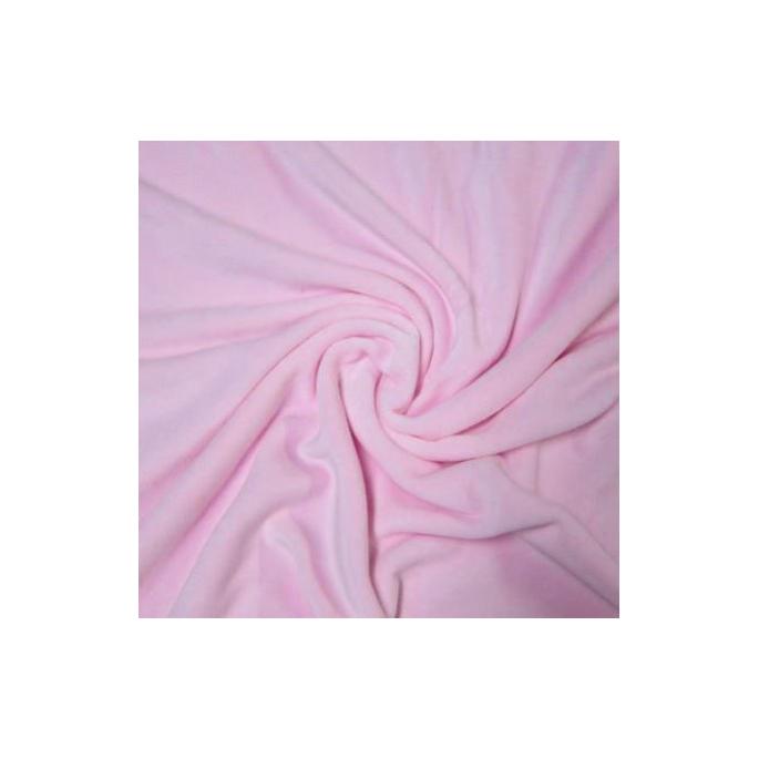 Velours de coton Oekotex Rose (au mètre)