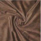 Velours de coton Oekotex Chocolat (au mètre)