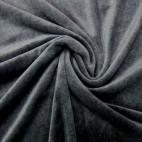 Velours cotton Oekotex Dark Grey (by meter)