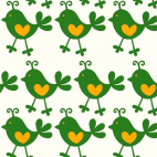 PUL poly imprimé Cuicui vert laize 140cm (par 10cm)