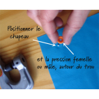 Pince KAM pour pressions résine (+ poinçon + embouts T3/T5/T8)
