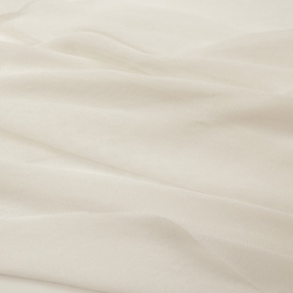 Organice cotton Mesh fabric White