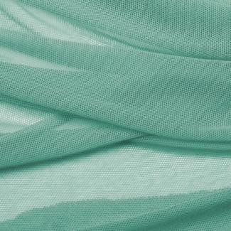 Tulle de coton bio Vert givré