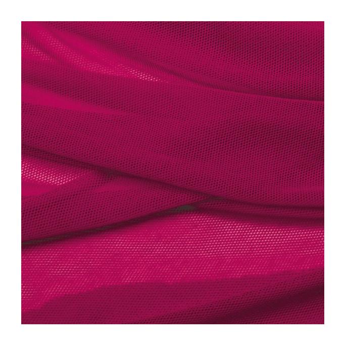 Organic cotton Mesh fabric Raspberry
