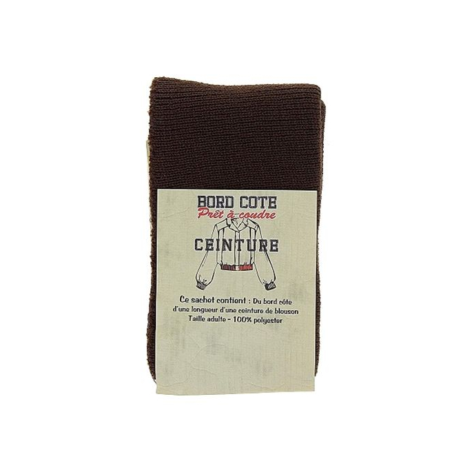 Coat Waist Binding Ready to sew Brown