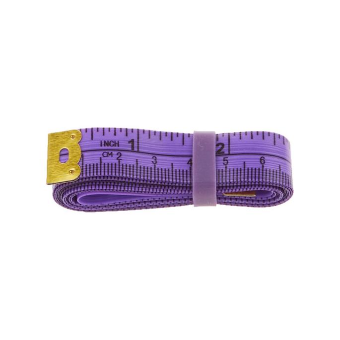Fiberglass Tape Measure with silicon band 150cm PURPLE