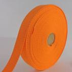 Cotton Webbing 23mm Orange (by meter)