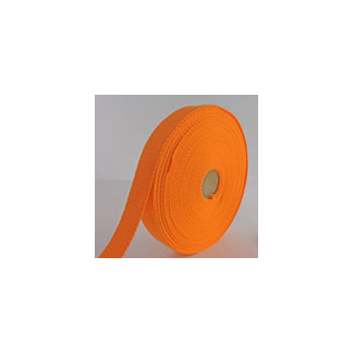 Cotton Webbing 23mm Orange (by meter)