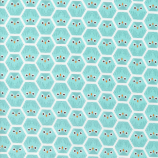 Organic cotton Fabric print Dolittles Owl Cloud9