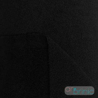 Biface Eponge Bambou et Velours Microfibre Oekotex Noir